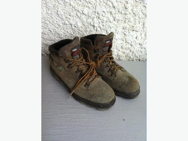 men's steel toe work boots sz 7