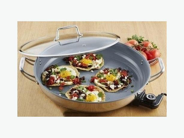 Chef's ceramic nonstick electric skillet 16""