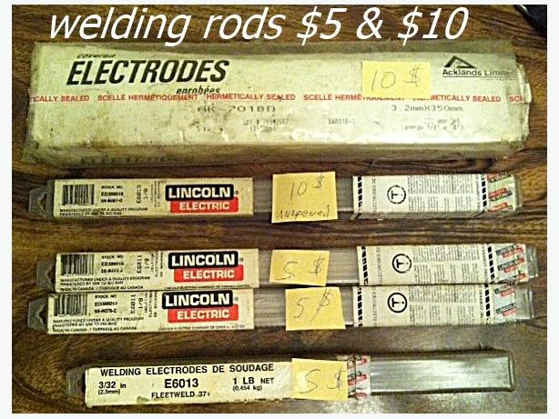 Welding rods for arc welder $5 - $10