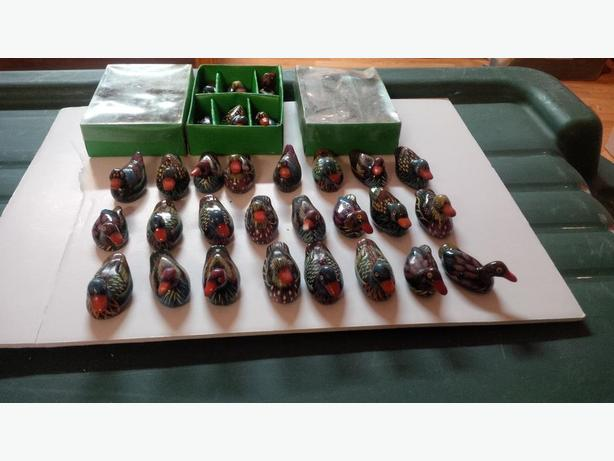 Quantity of Various of Small Hand Painted Ducks, intricate