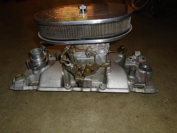 FOR-TRADE: Weiand SBC single plane intake for a dual plane intake
