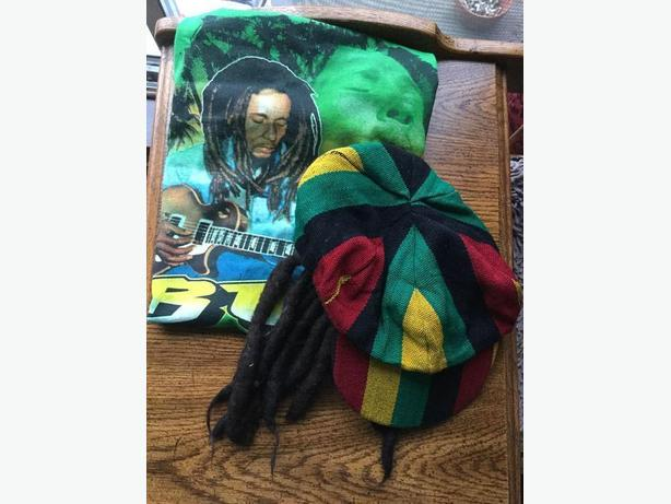 Children - Bob Marley T-shirt with Dreadlocks Rasta Hat
