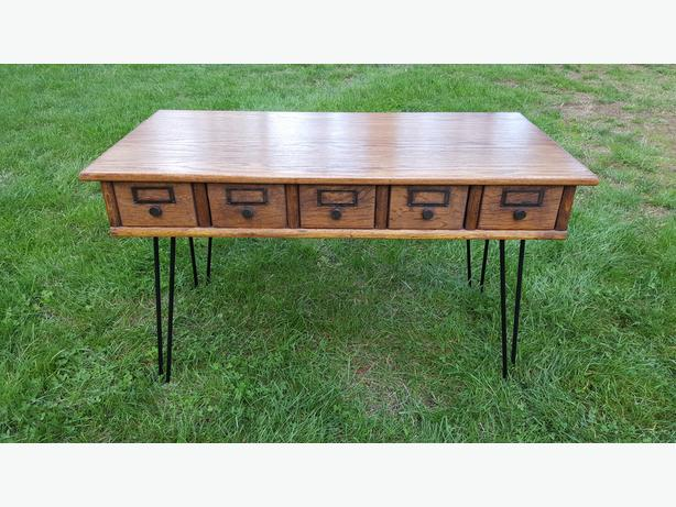 Card Catalog Coffee Table Malahat Including Shawnigan Lake Mill Bay Victoria
