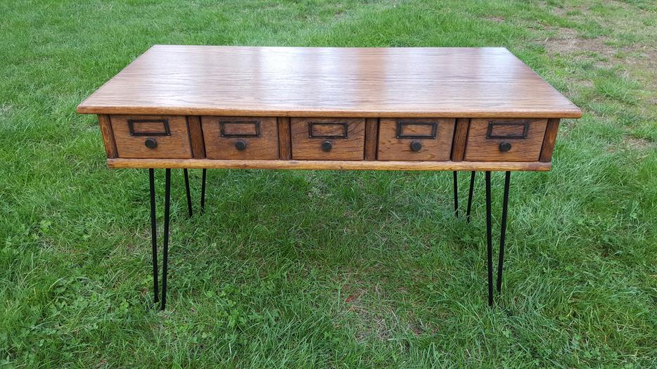 Card catalog coffee table malahat including for Coffee tables kelowna