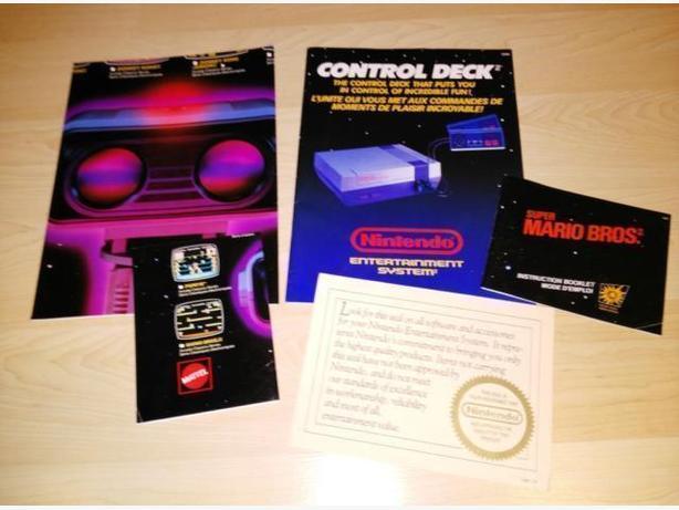 Vintage Nintendo (NES) System Poster & Manuals