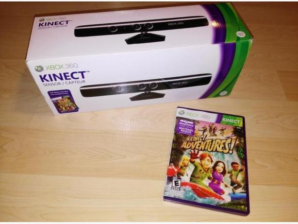 Like New Kinect Sensor Bar In Box With Game