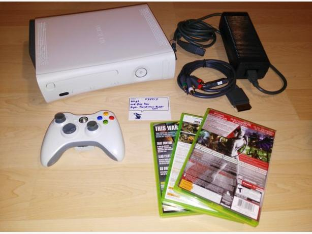 Xbox 360 60gb System With Controller & $20 Towards Games