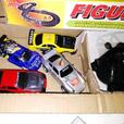 Vintage Artin Figure 8 Dual Race Set With 4 Cars