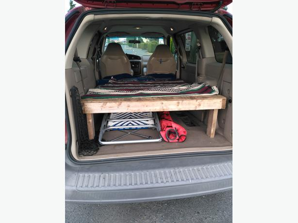 Wooden van bed frame