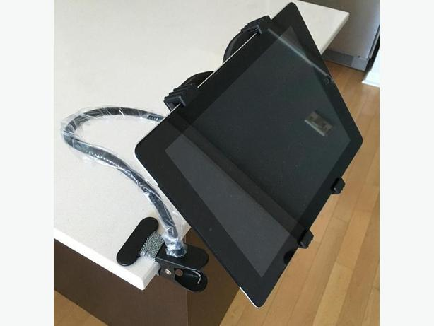 Universal Long Neck 360 Rotate Flexible Clamp Mount Holder Tablet IPad