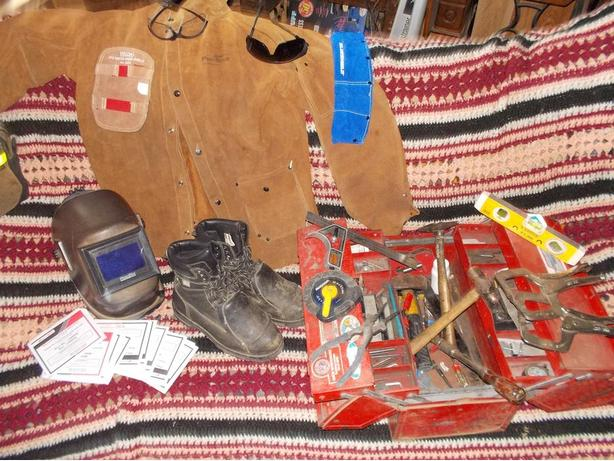welding tools/clothes