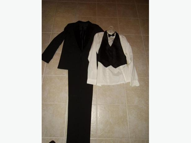 Size 18 Boys Black Suit