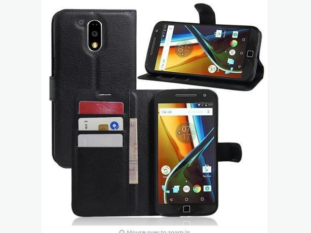 New Wallet Folio Flip Stand Leather Case Motorola Moto G4 Plus