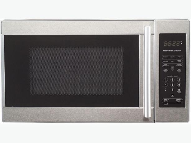 Hamilton Beach 0.7 cu.ft. Stainless Steel Microwave 700 Watts 10 power Levels