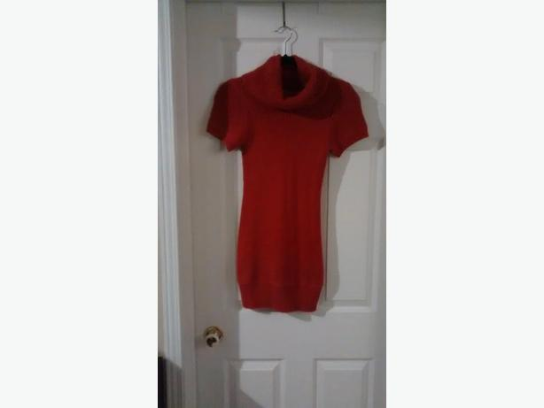 Ladies Red KINA Sweater Dress - Size Medium