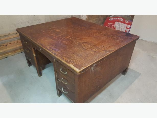Antique Double Sided Desk