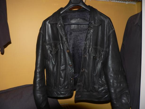 REDUCED BY $50 TO $100 Unique Black Leather Jacket - denim jacket design