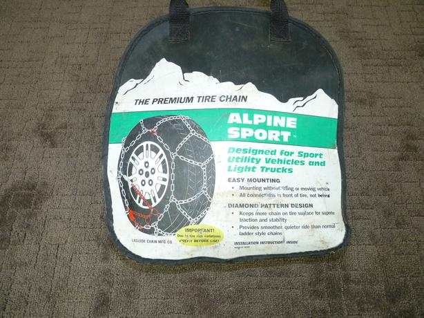 "Alpine sport Tire chains for mulitple 15"" and 16"" tires"