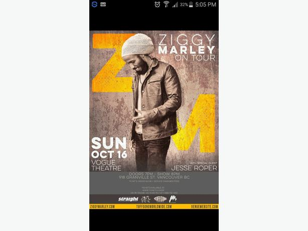 Ziggy Marley Concert Tickets