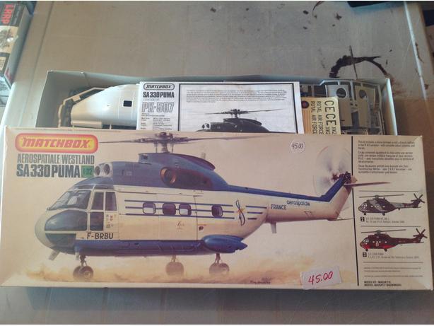 Matchbox Westland SA330 Puma  1/32 scale model kit
