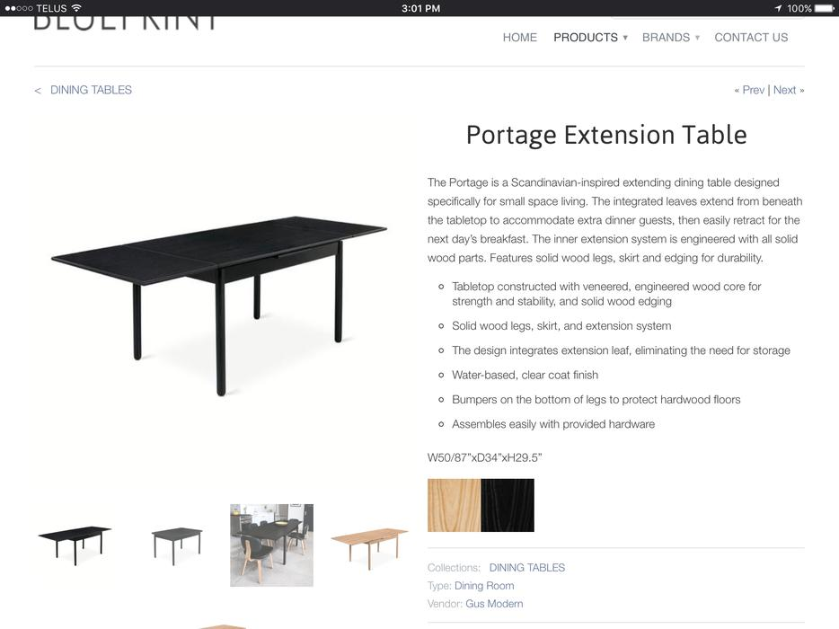 Portage extendable dining table by GUS Modern Gloucester  : 55544266934 from www.usedottawa.com size 934 x 700 jpeg 57kB