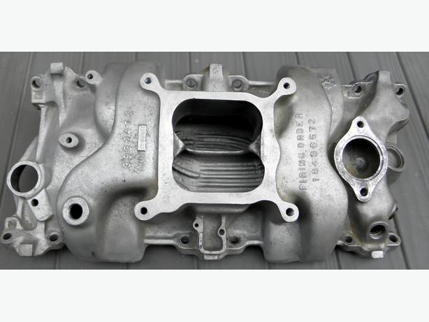 1969 Chevy Camaro Z/28 Factory 302 Alum Hi-Rise Intake Manifold #3932472