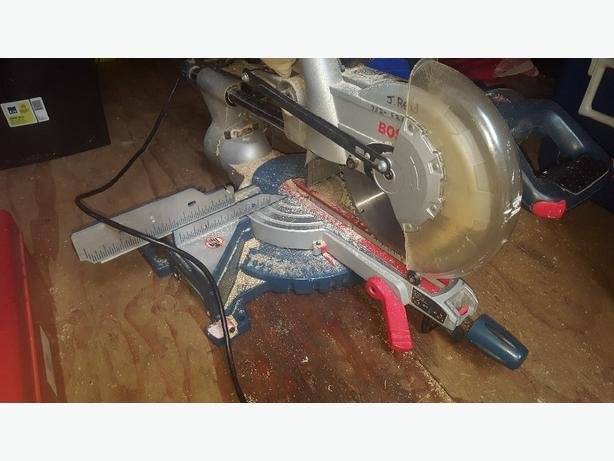Bosch mitre saw 10 in slider