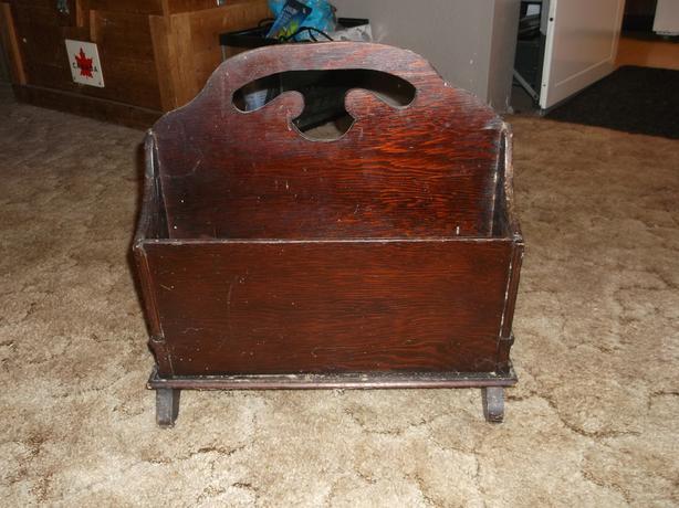 antique mag holder
