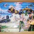 Vintage 1987 G.I. Joe Metal TV Table