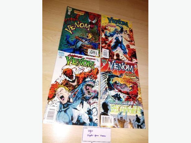 1995 Venom Carnage Unleashed Complete Set #1-4