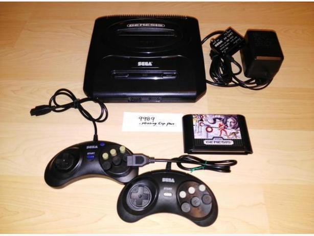 Sega Genesis Model 2 System With 2 Controllers & Game