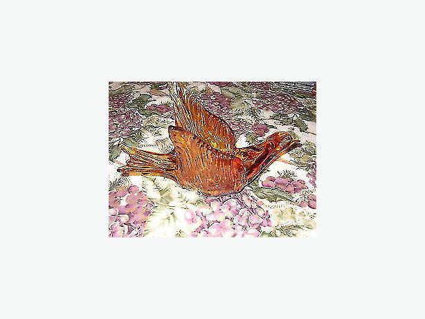 bird , art Iridescent glass