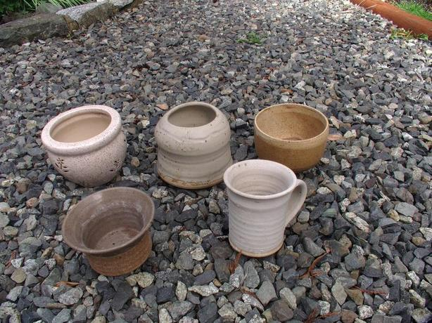 5 Decorative Clay Pots