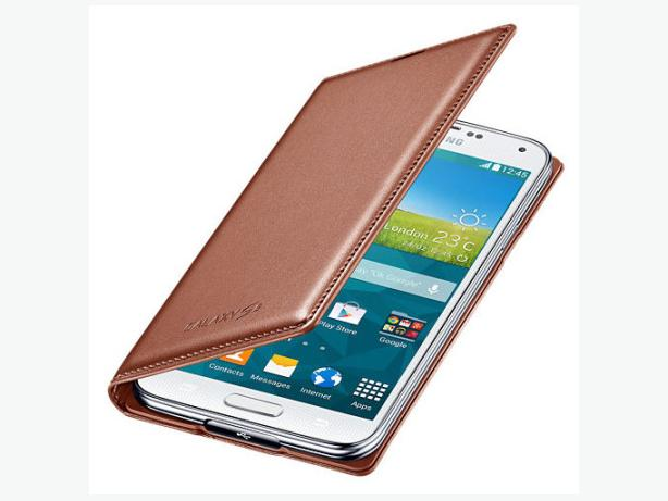 Genuine Samsung Galaxy S5 Flip Wallet Case