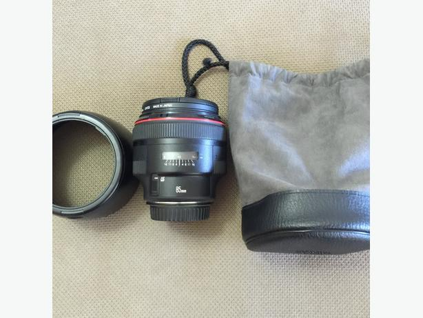 Excellent condition Canon 85mm 1.2 L II