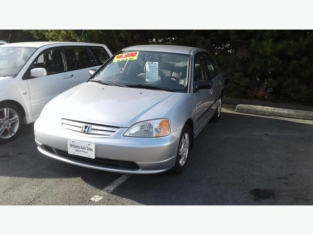 2002 Honda Civic 4dr automatic On Sale Williams Colwood 778 265 8689