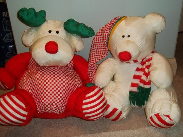 stuffed reindeer and polar bear