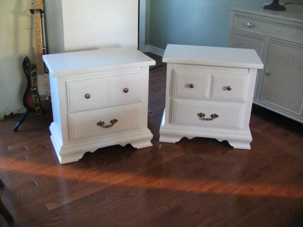 Two matching large Night tables (pine) matching