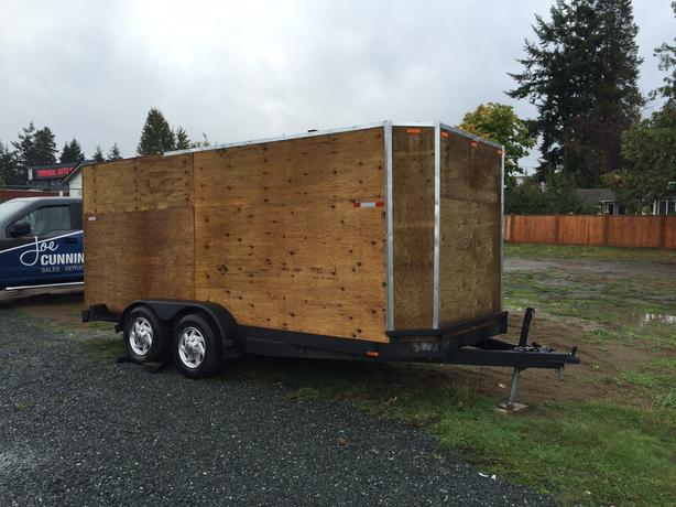 1991 Car Hauler Trailer with Wooden Box Added