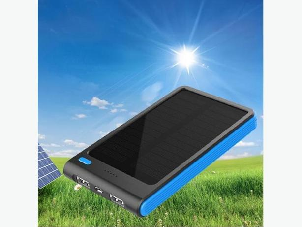 Solar Power bank  5000mAh Double USB Portable Cell Phone Charger