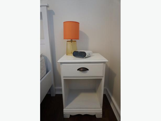 White nightstand/ Side table
