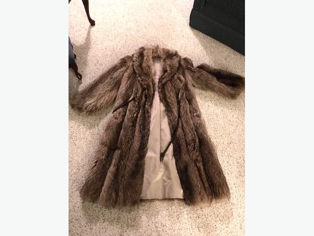 Fur Coat size small for sale.
