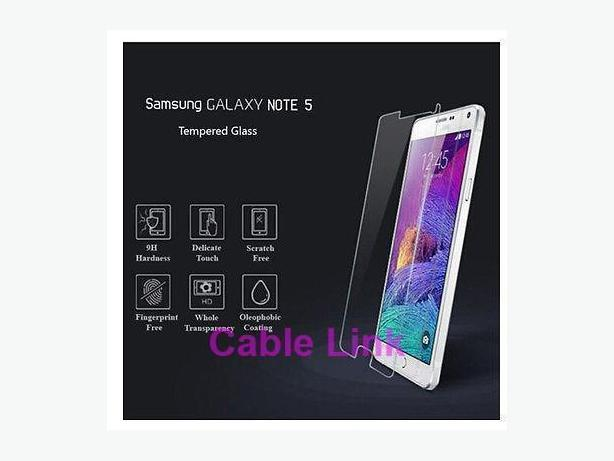 Premium Tempered Glass Screen Protector For Samsung Note 5