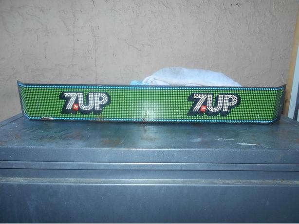 Antique 7 UP screen door push