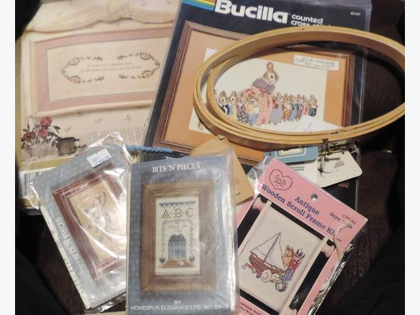 Cross Stitch Kits and Oval Rings NEW