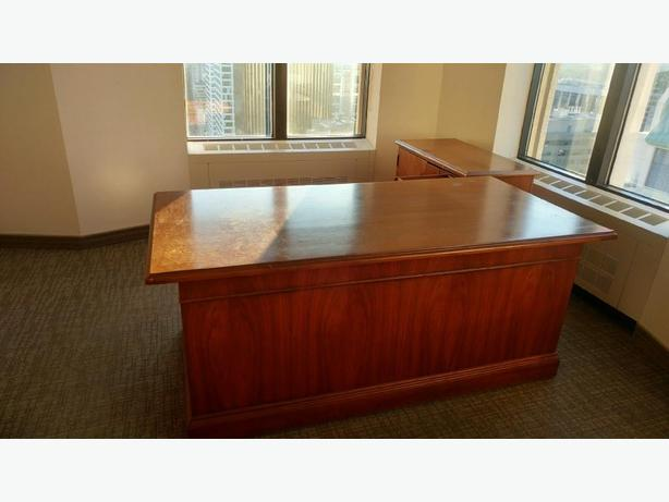 Variety of office desks and filing cabinets for sale