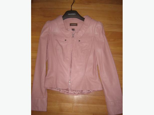 Like New Danier Leather Pink Jacket XXS 2XS