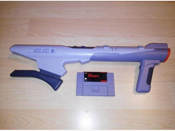 Super Nintendo Super Scope With Game Cart - NO RECIEVER