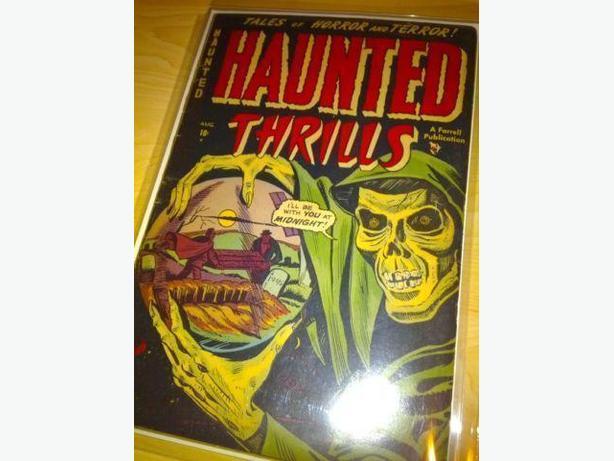 Haunted Thrills #2 (1952) - Classic Skull Cover