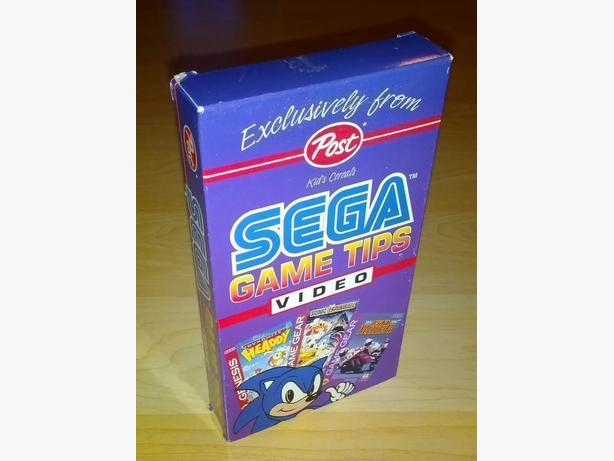 Vintage Sega Tips VHS Tape - Cereal Box Send Away